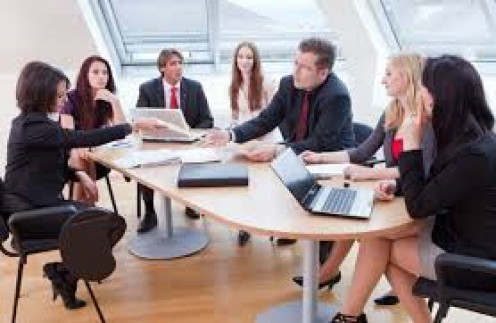 Discussions help energize a high-level corporate meetings