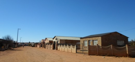 A street in the township Jouberton, Klerksdorp