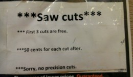 Cutting Policy Placard