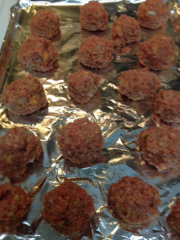 Sear Meatballs at 450 degrees for 10 min