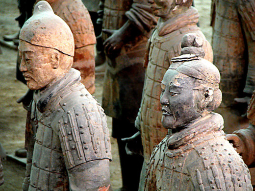 The Terracotta soldiers of Ancient China