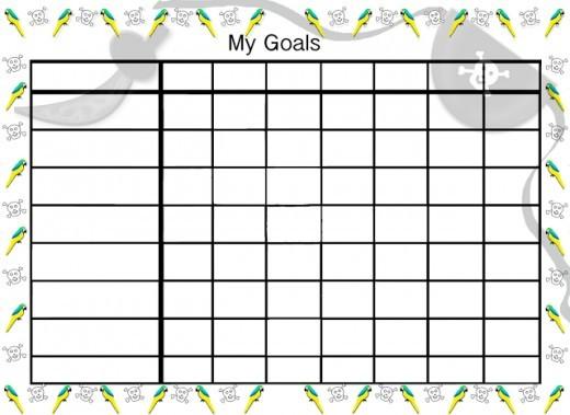 Pirate goals chart.