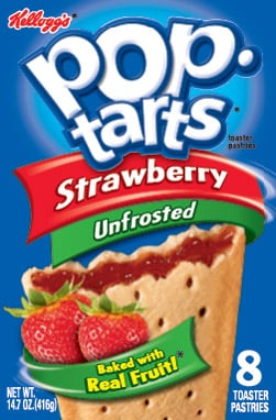 Strawberry Unfrosted Pop Tarts