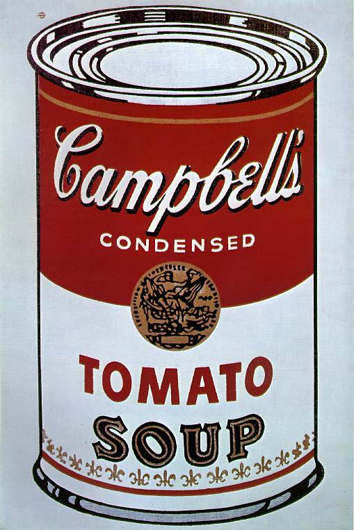 Campbell's Tomato Soup. Be a vegan Warhol.