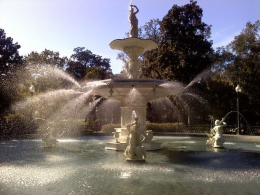 The amazing Forsyth Park fountain.