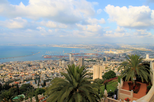 View over Haifa bay, Israel.