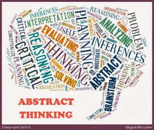 Abstract thinking is best supported with concrete examples.  It's not just for students in elementary school or students with learning differences.  Everyone feels empowered to use his or her own experiences and ideas to generate final conclusions.