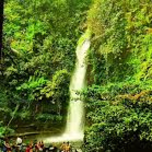 Sawer waterfall at Situ Gunung, Sukabumi.