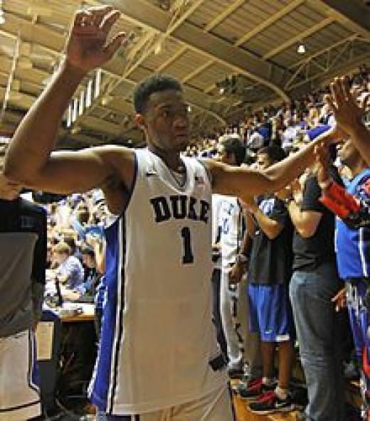Jabari Parker as a Duke basketball player.