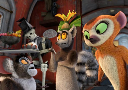 King Julian, Madagascar co star and soon to be hero of his own television series.