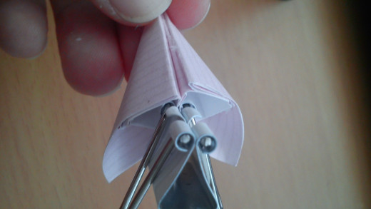 Glue the petals together, hold in place with a clip if necessary.
