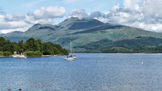 Ben Lomond above Loch Lomond