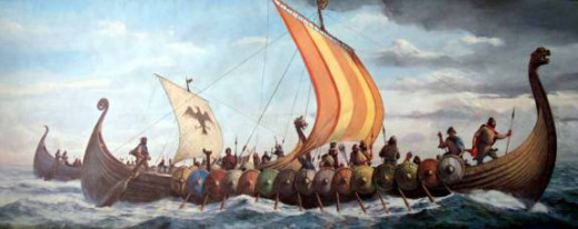 Norsemen and Danes cross the North Sea and Irish Sea in search of booty or land to settle and colonise several times between AD 793 and AD 1013