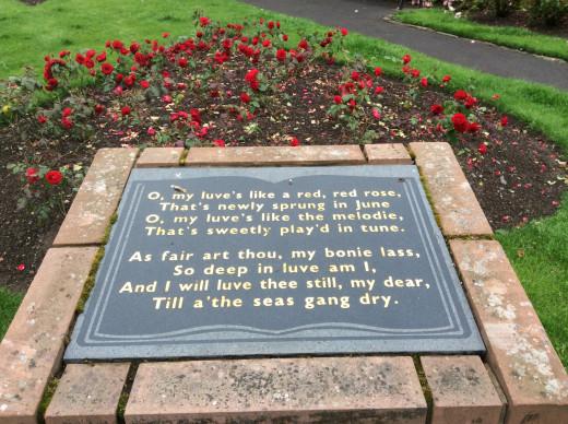 The Robbie Burns Gardens, Dumfries.