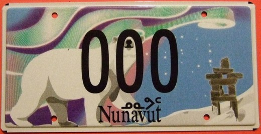 Sample vehicle license plate.