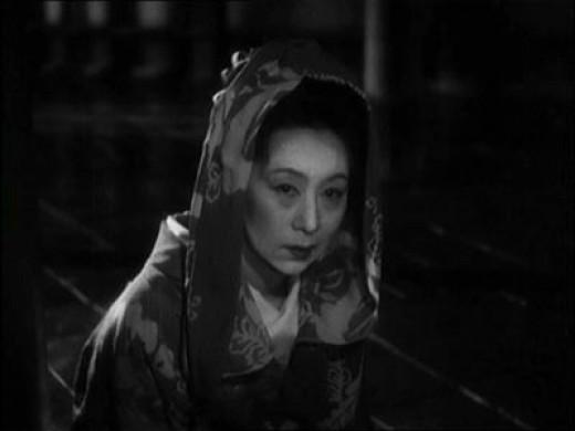 Kinuyo Tanaka as the title character in Mizoguchi's The Life of Oharu (1952)