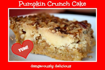 Make this pumpkin crunch cake and you WILL get asked for the recipe.  A+ dessert!
