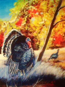 A wild turkey signals Autumn's Triumphant enchantment...
