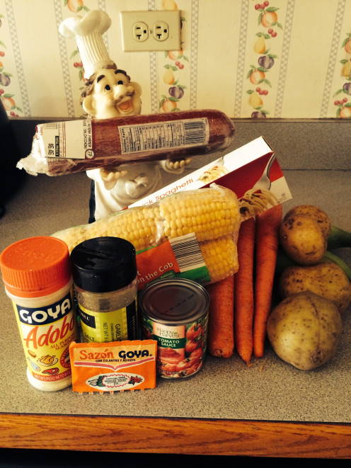 A picture of the ingredients you would be using for this spanish dish