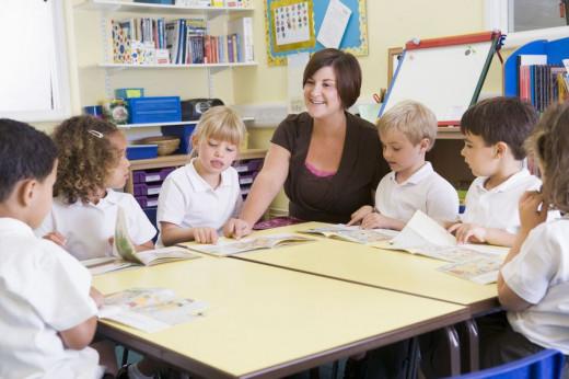 Teaching kids in Spain
