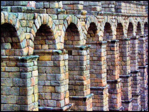 Aqueducts in Segovia, Spain