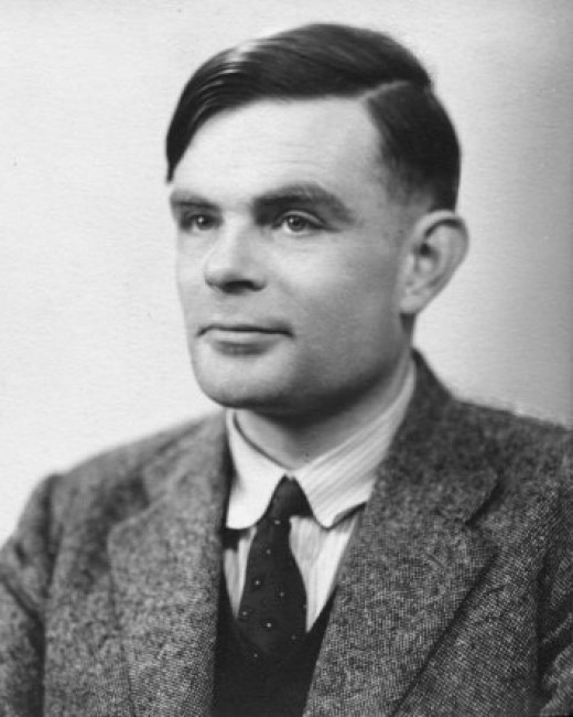 Alan Turing, wartime portrait
