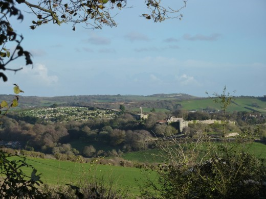 A beautiful view of Carisbrooke castle and Mount Joy cemetery from the Tennyson Trail. These two features have already been taken in by this walk