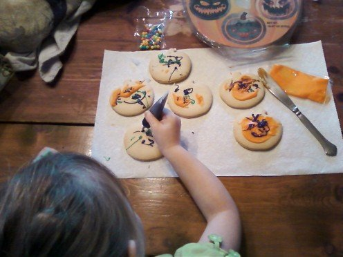 4) Add your very own choice of candy toppings to your cookies.