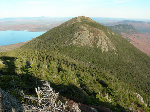 We enjoyed a fantastic view from Avery peak (shown here) on Bigelow Mountain.
