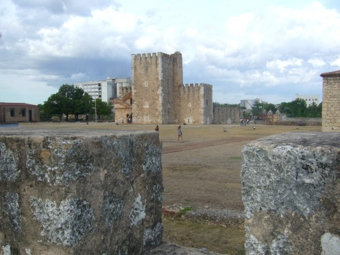 Tower of Homage  located at the fortress in Santo Domingo which served  as a prison for Christopher Columbus