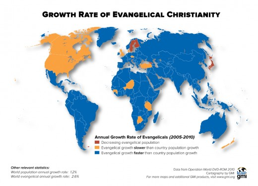 Christianity Worldwide Growth Rate