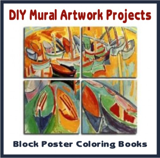 How to make art murals from coloring pages or projected drawings.