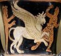 Griffins battling Arimaspians