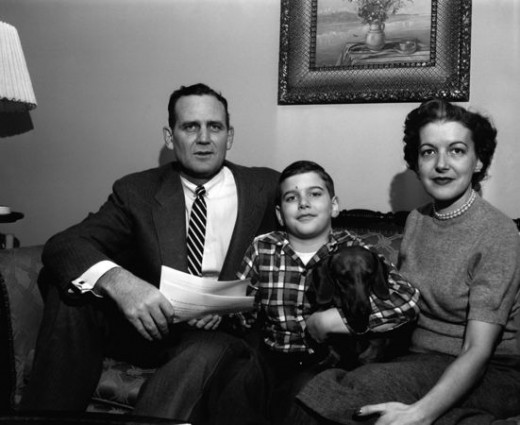 "Legendary college football coach, Paul W. ""Bear"" Bryant and family"