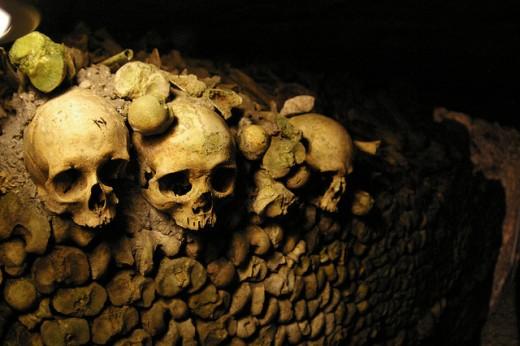 Skulls in the Catacombs of Paris