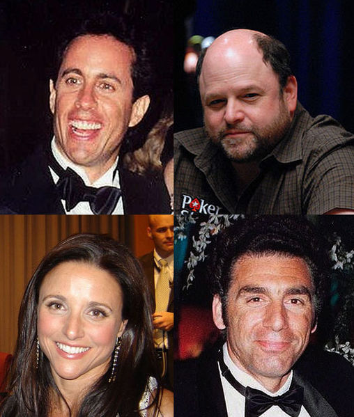 Jerry Seinfeld, Jason Alexander, Julia Louis-Drefus, Michael Richards