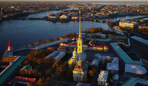 Peter & Paul Fortress in St Petersburg, Russia