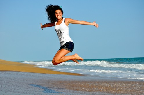 Fit woman: Use aspirin as part of your many efforts to stay young and fit.