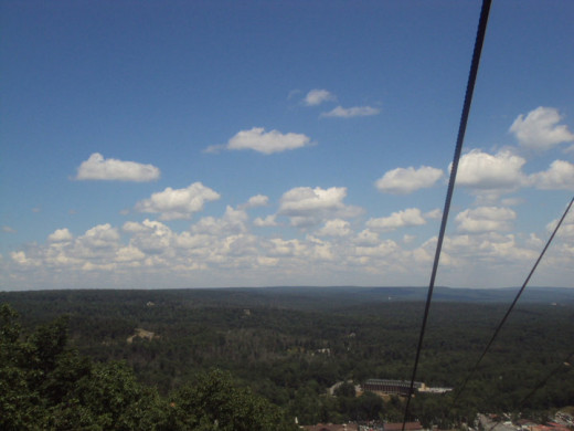 Beautiful view on the Poconos Mountain at Camelbeach when I was on the Skyride.