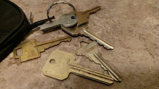 Homes and old buildings still use traditional keys.
