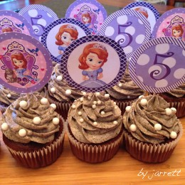 Sophia the First Cupcakes Toppers