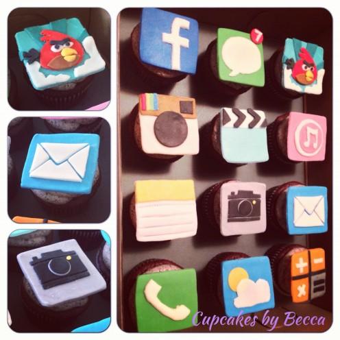 App Fondant Cupcakes Topper