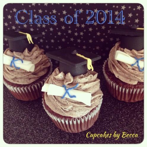 Graduation Cupcakes…caps and diplomas made with fondant