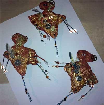 Beaded Trim on Art Dolls