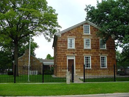 Carthage, Illinois jail.  Site of Joseph Smith's murder.