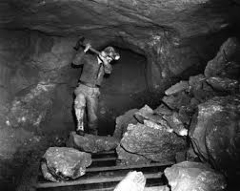 Digging coal by hand take a real man or real women to do each day