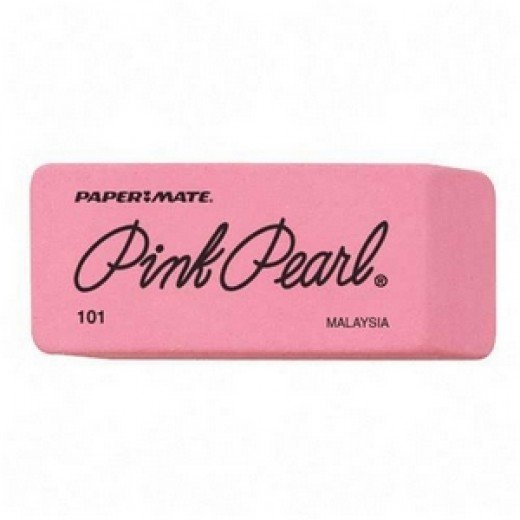 Pink Erasers... If Using these I recommend Pink Pearl!
