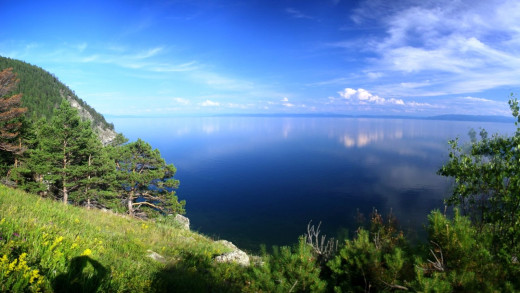 Lake Baikal - the largest fresh water reservoir in the world.