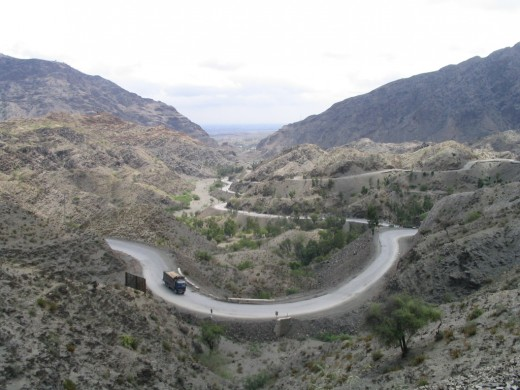 Khyber Pass which is in Pakistan now.