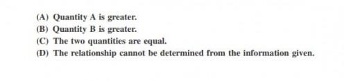 Quantitative Comparison answer choices.